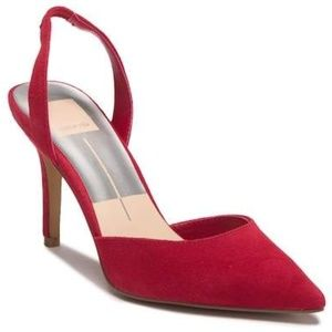 Dolce Vita Mel Red Slingback Pumps